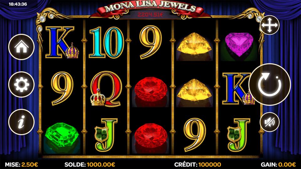 mona lisa jewels casino
